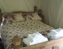 Luxury Camping Hedgerow Bedroom